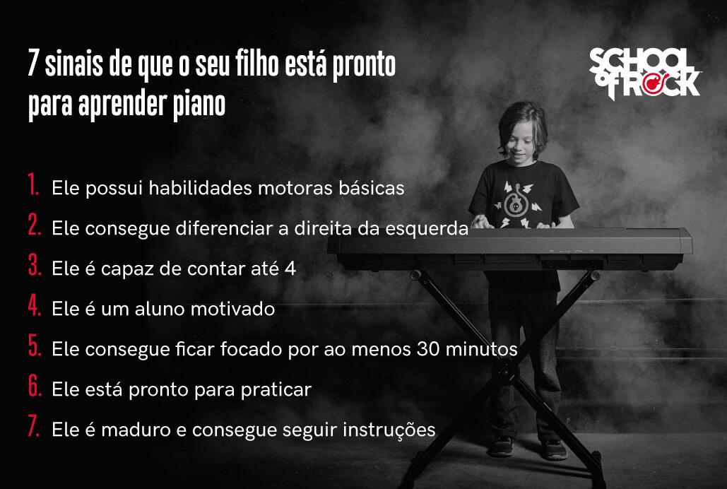 Lista de 7 Sinais de que Seu Filho Está Preparado para Aprender Piano