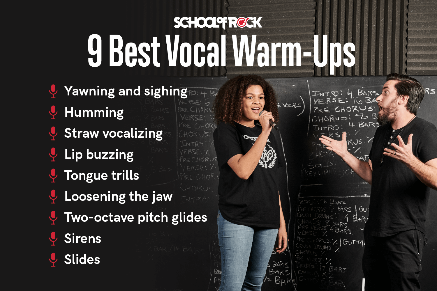 9 best vocal warm ups from School of Rock