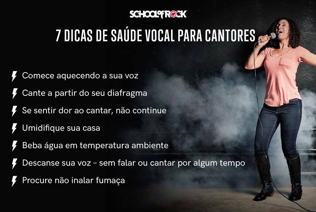 Lista de 7 dicas de saúde vocal para cantores