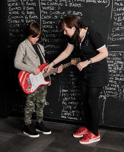 School of Rock has experienced music instructors
