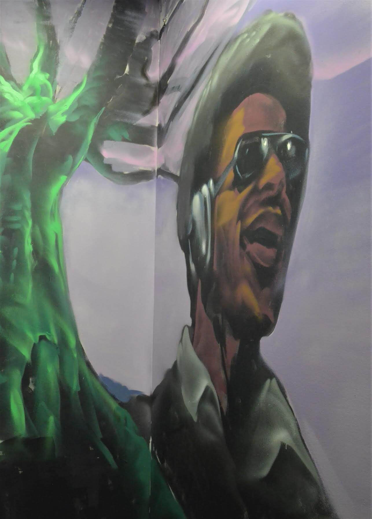 You can glimpse another one of our heroes, Stevie Wonder, as you enter the venue.