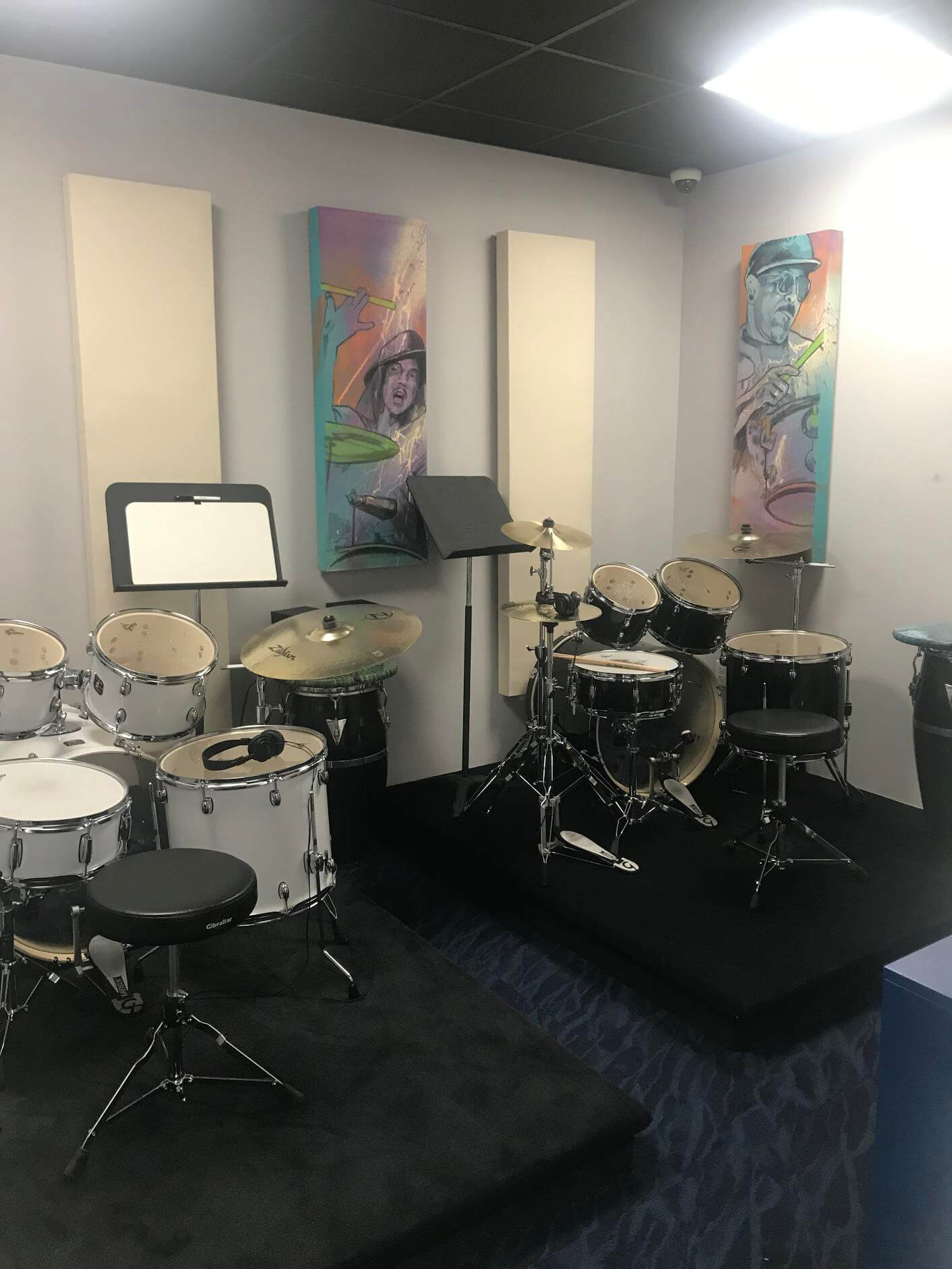 Take a look at our drum room.