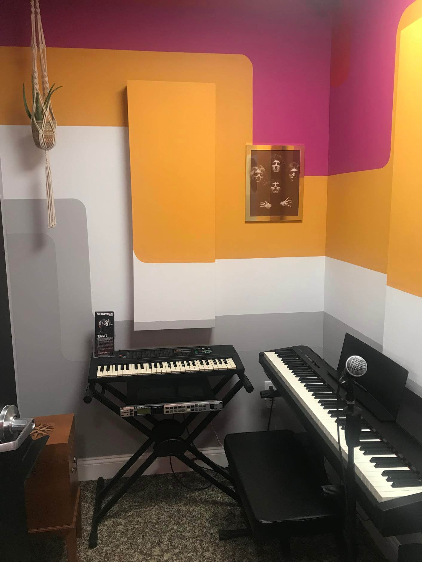 Our 1970s music room has a great vibe.