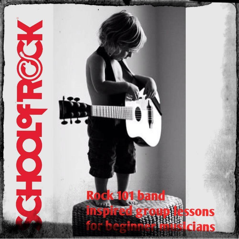 We have programs even for the youngest rockers 4 years old through adults!