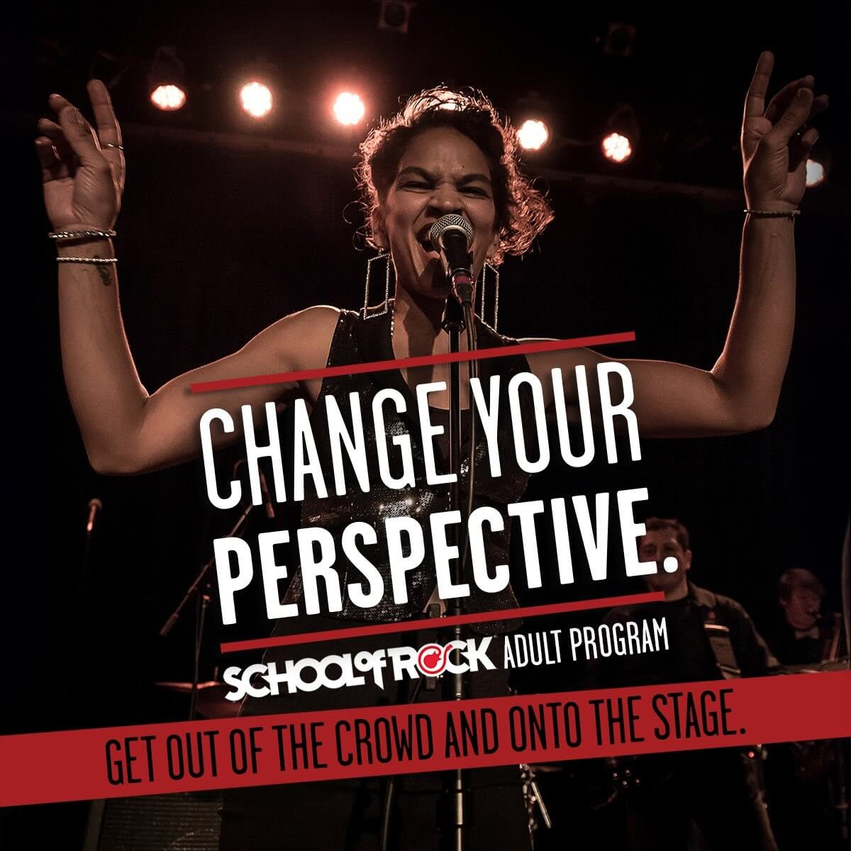 Grad School. School of Rock is not just for kids. We have a very well developed program for those 18-98. Don't ever say I should've, you can. Join the School of Rock Grad School and you will be learning to play and perform!
