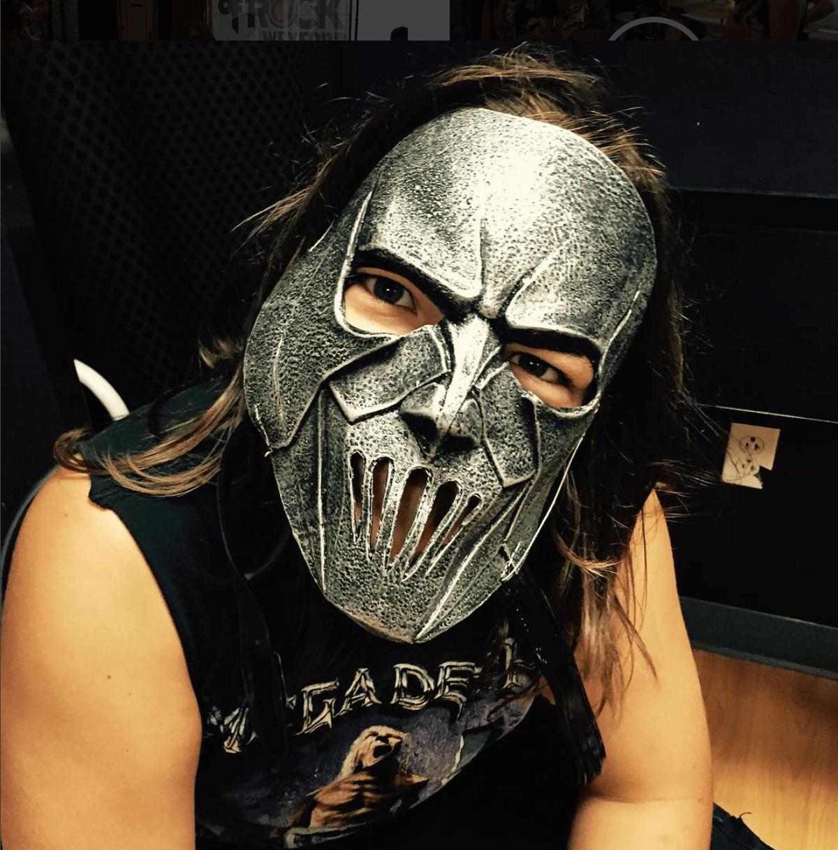 Cyrus's death metal mask..