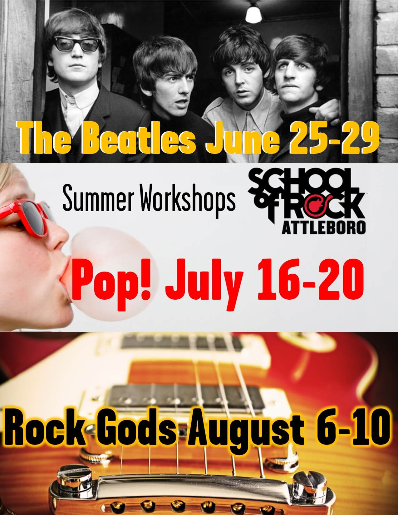 Summer Workshops, enrolling now!