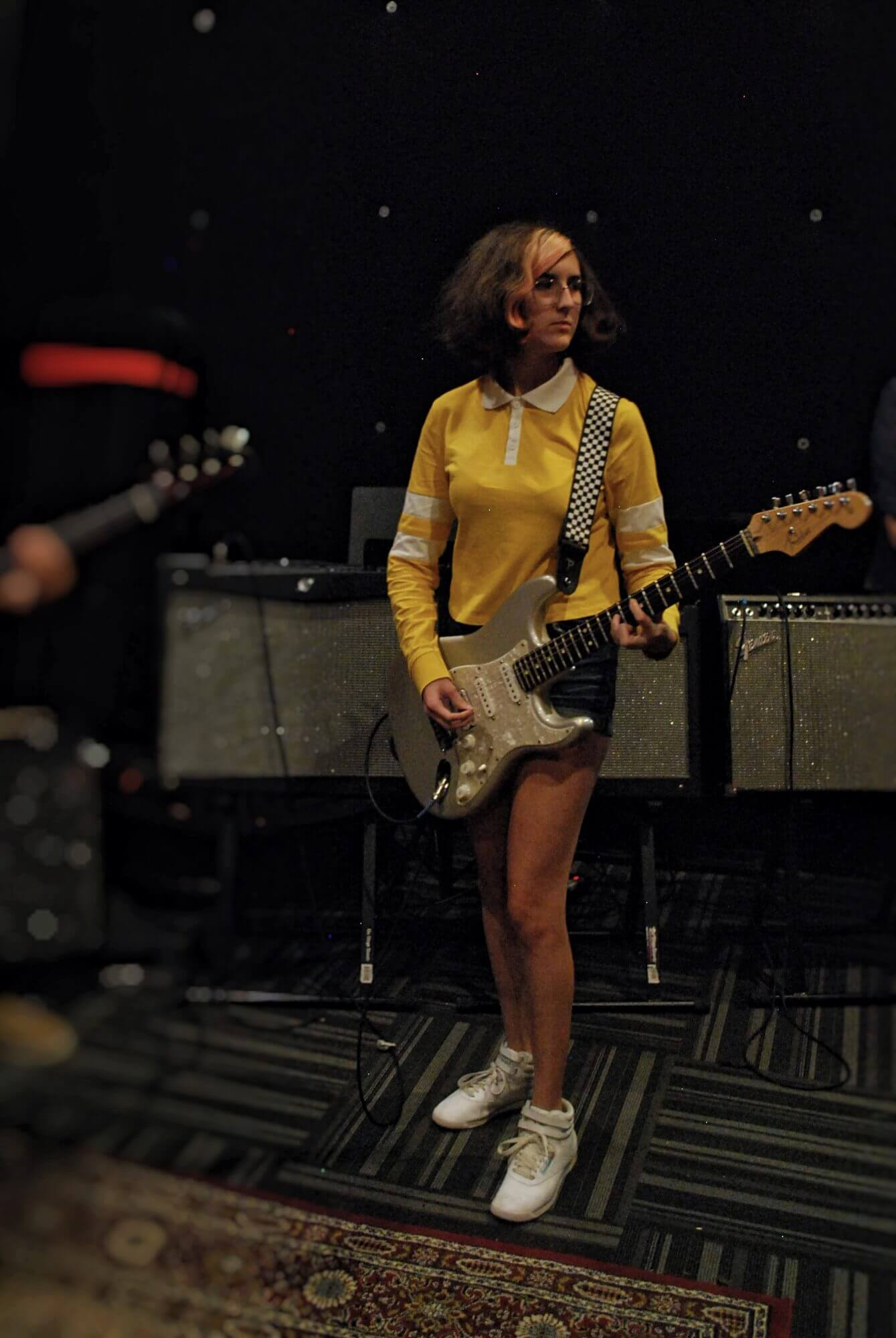 A House Band student awaits instruction for her director during a recent rehearsal.