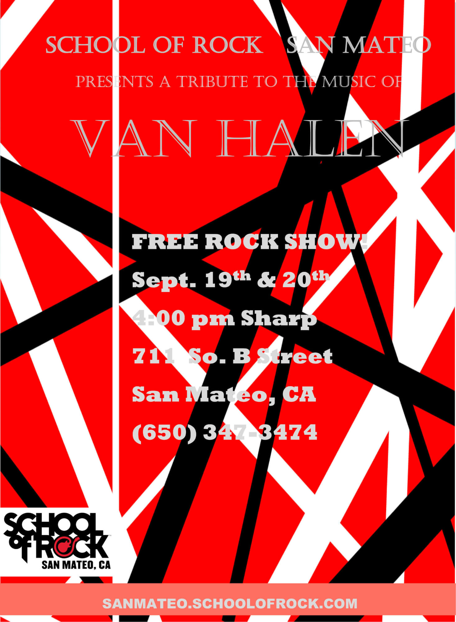 FREE ROCK SHOW Sept. 19th & 20th