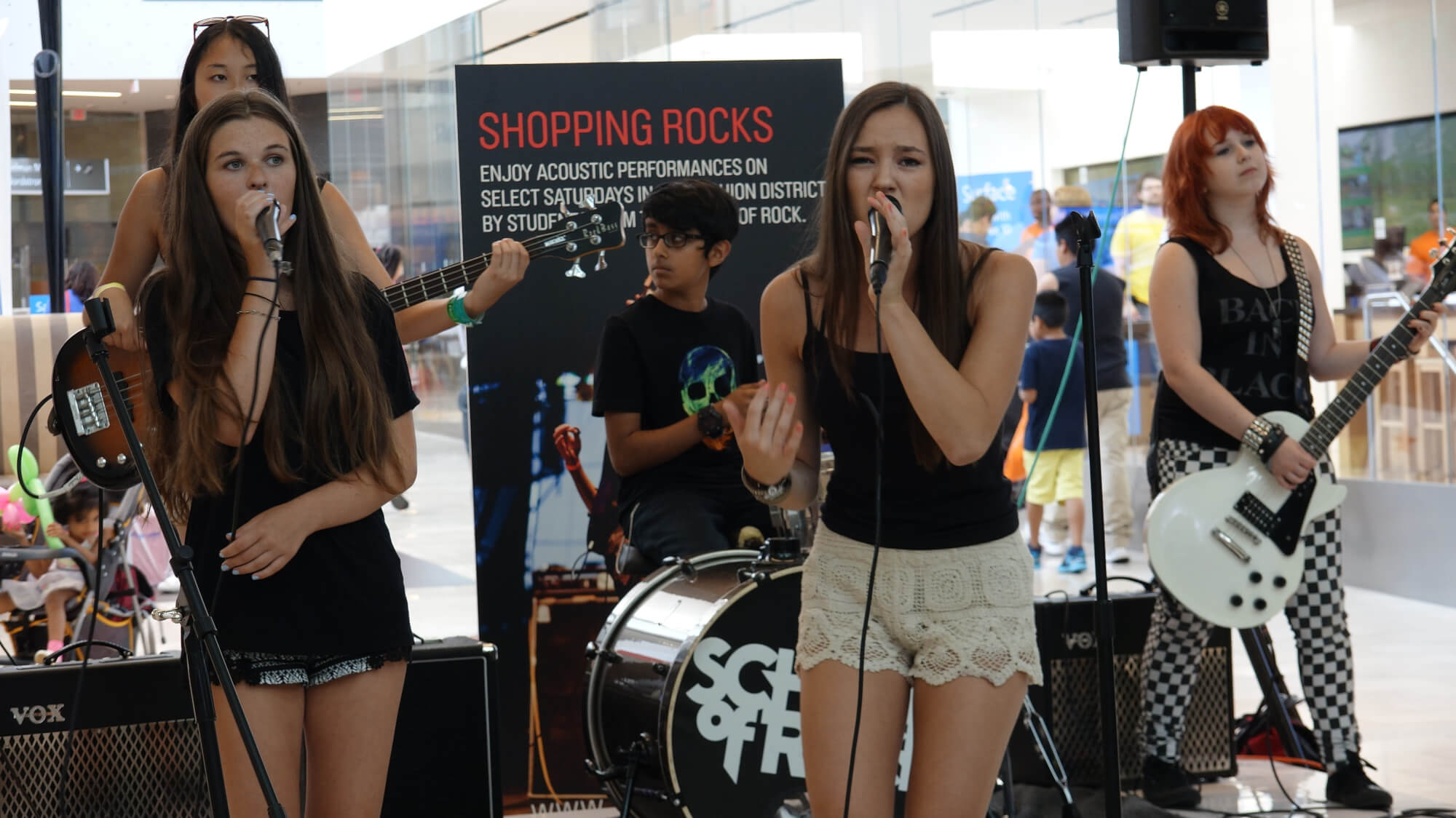 Tenafly House Band Rocks at the Mall Every Month!