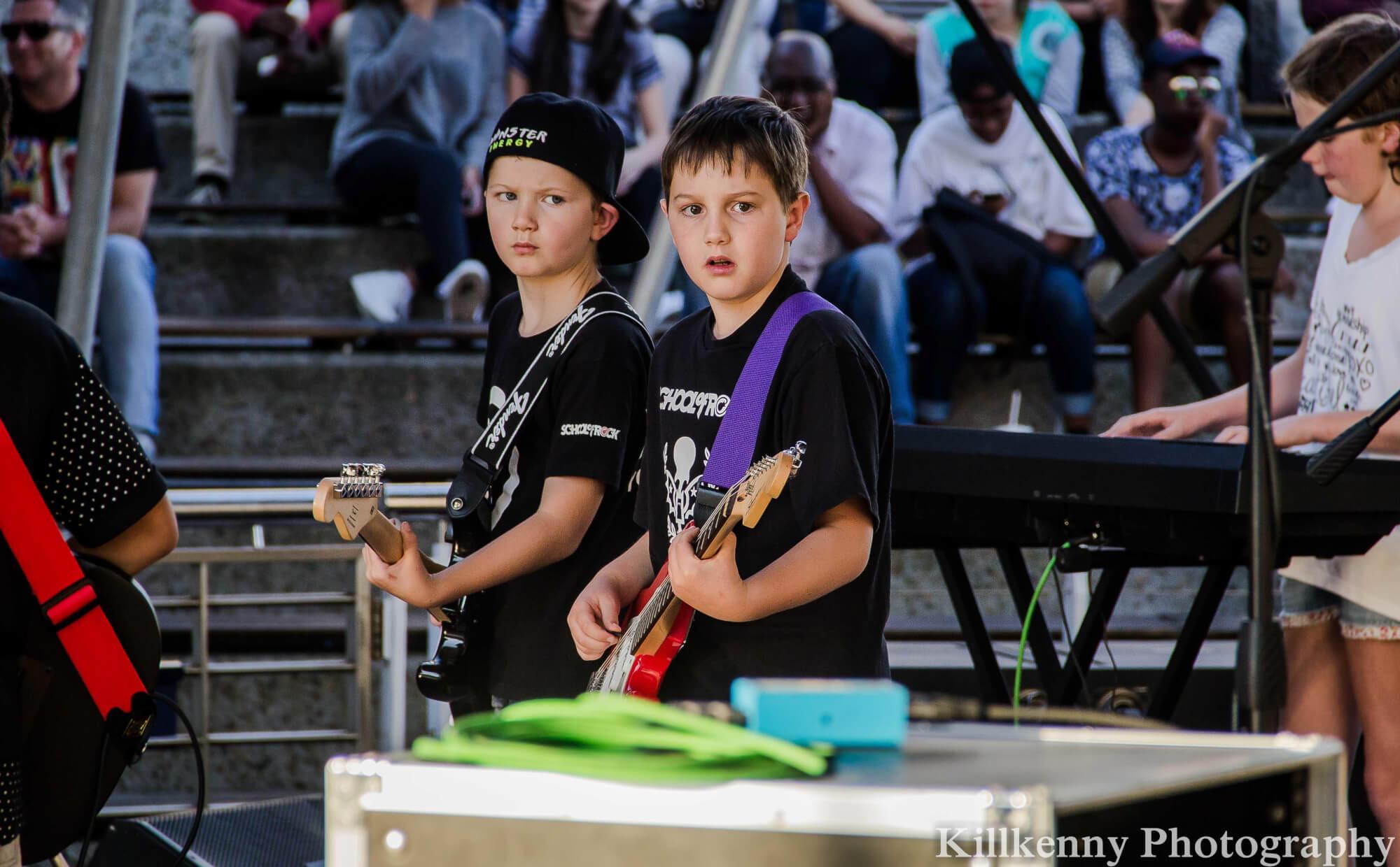 Rock 101 students performing at the V&A Waterfront Amphitheatre - 27 November 2015