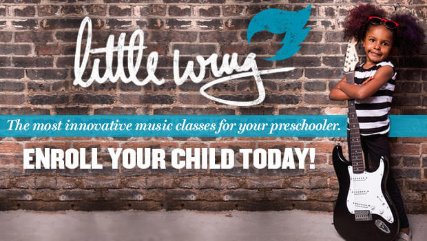 Do you have a 3-5 year old who loves music?! Enroll them today in our Little Wing Program! We introduce music, science and fun!