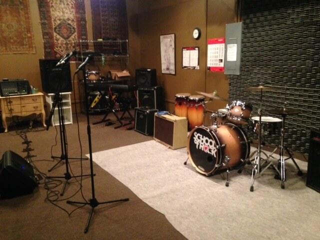 Inside the rehearsal room!