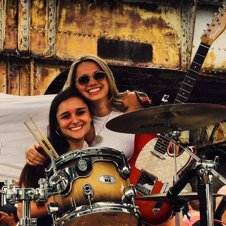 Gracie and Kayli at a House Band gig!