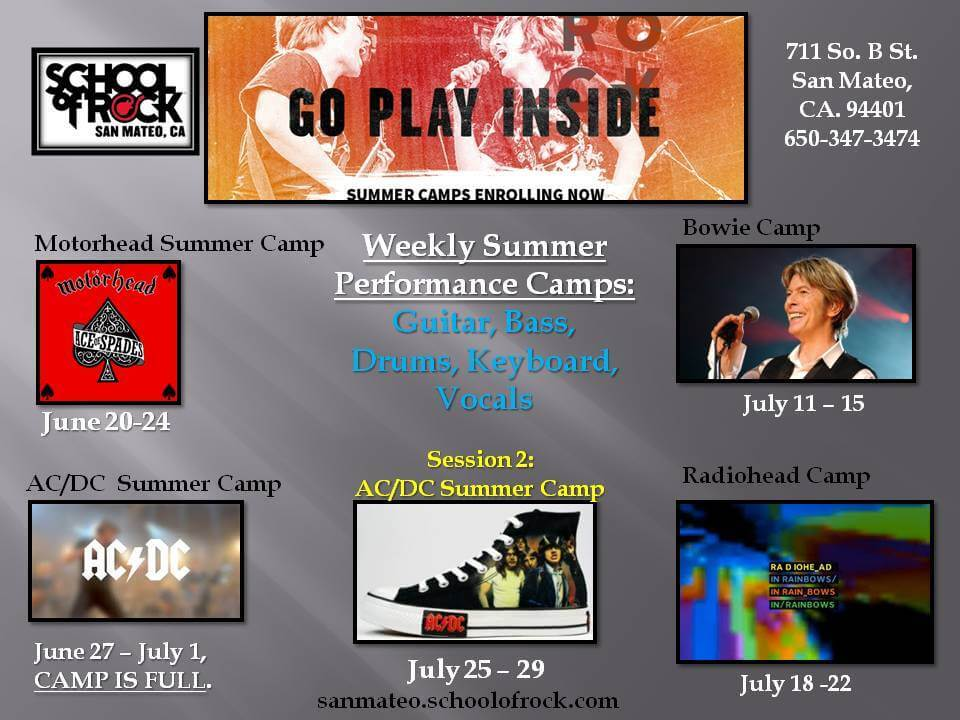2016 School of Rock Summer Camps