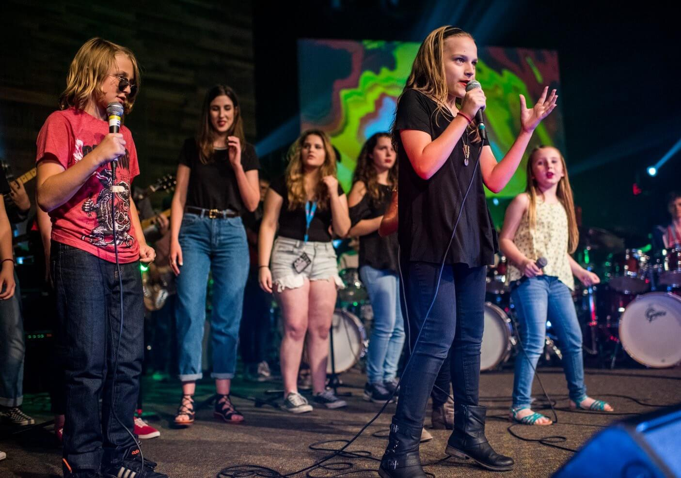 Vocalists at our Rock Camp take the stage.
