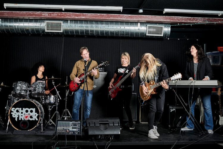 School of Rock teaches music lessons for adults