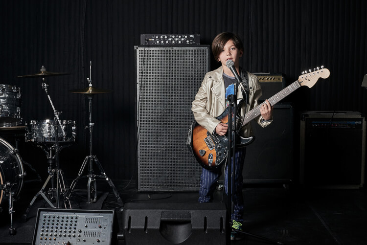 School of Rock teaches music programs for 6 to 7 year olds.