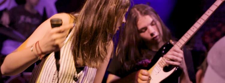 Students in the Allstars music program